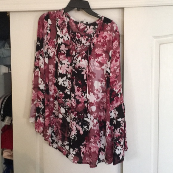 Quintessential tops nwt sz 3x pink floral blouse by poshmark nwt sz 3x pink floral blouse by quintessential mightylinksfo